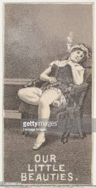 From the Actresses series promoting Our Little Beauties Cigarettes for Allen & Ginter brand tobacco products, 1890. Artist Allen & Ginter.