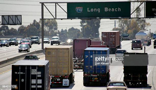 – – From the Alondra Blvd overpass, Compton a view of soutbound traffic on the 710 approaching the 91 freeway. The 710, Long Beach Freeway is one of...