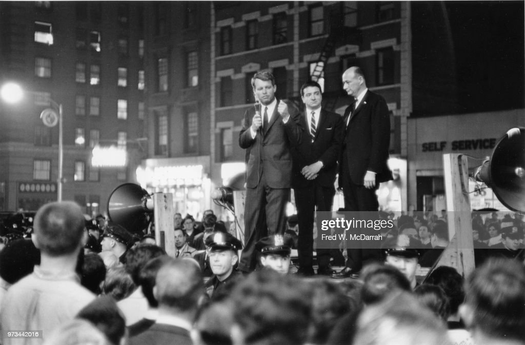 RFK Campaigns In Greenwich Village : News Photo