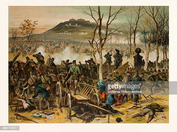 From The Battle At Mont Valerien On The 19th Of January; The First Compagnie Of The 5th Battalion Of Gorlitzer Hunters Defends La Bergerie. The...