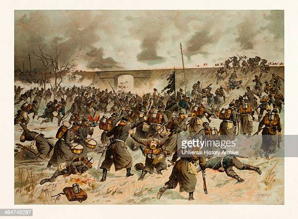 From The Battle Near Amiens On The 23rd Of December 1870 The Storming Of The Railway Dam Near Villers Bretonneux By The 44rthers The Francoprussian...