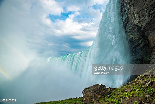 from the bottom of niagara falls - horseshoe falls niagara falls stock pictures, royalty-free photos & images
