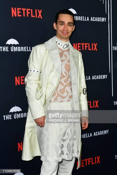From the cast actor Robert Sheehan arrives for the premiere of Netflix's 'The Umbrella Academy' Season 1 in Hollywood on February 12 2019 'The...
