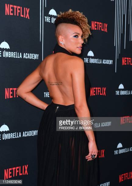 From the cast actress Emmy RaverLampman arrives for the premiere of Netflix's The Umbrella Academy Season 1 in Hollywood on February 12 2019 The...
