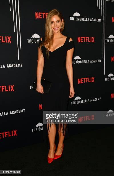 From the cast actress Jordan Claire Robbins arrives for the premiere of Netflix's The Umbrella Academy Season 1 in Hollywood on February 12 2019 The...