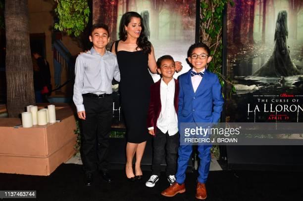 From the cast Aiden Lewandowski Marisol Ramirez who plays La Llorona Oliver Alexander and Jayden Valdivia arrive for the premiere of The Curse of La...