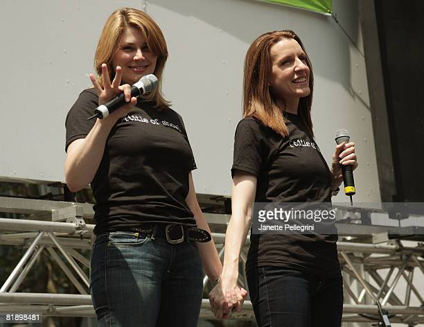 From the cast of [title of show] Heidi Blickenstaff and Susan Blackwell perform at the 2008 Broadway in Bryant Park on July 10 2008 in New York City