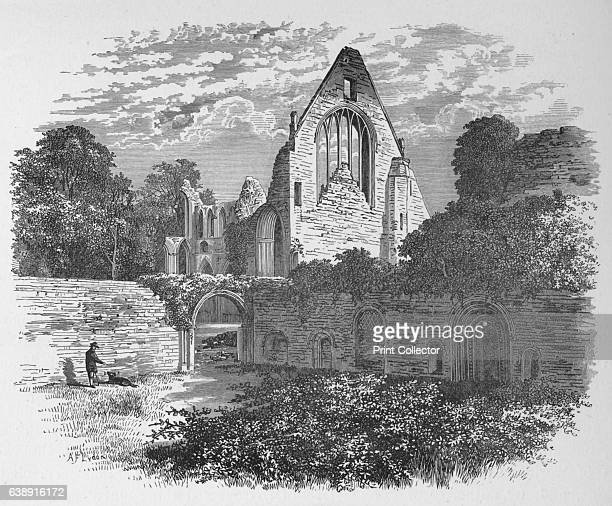 From the Cloister Court' Dryburgh Abbey c1880 From The Ruined Abbeys of Britain by Frederick Ross [William Mackenzie London 1897] Artist Alexander...