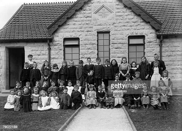 18941930 From the collection of Doncaster area photographer Luke Bagshaw A group of children and teachers outside the Askern school in Doncaster