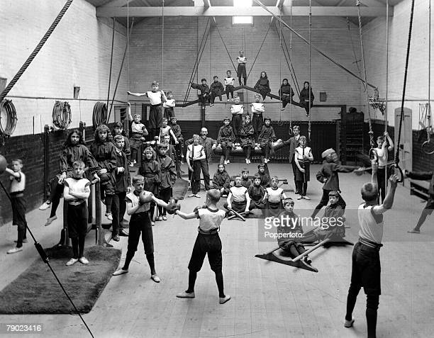 18941930 From the collection of Doncaster area photographer Luke Bagshaw Boys and girls in the gymnasium of Eastfield house school for the deaf