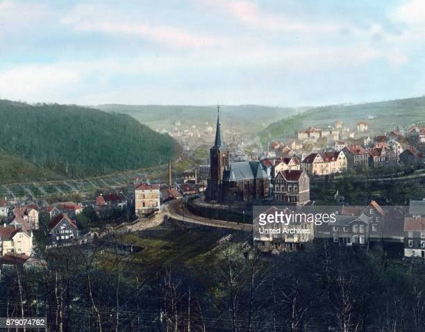 From the east the land of Berg becomes the Sauerland As found inter alia to the rich industrial site Milspe The hill on the left is the Klubertberg...