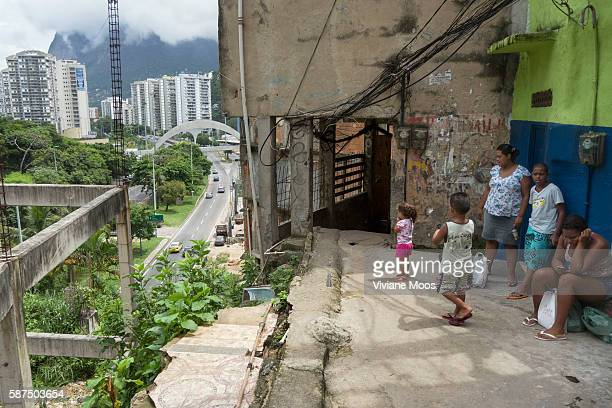From the edge of the Rocinha the view onto the wealth of Leblon and it's highrise condos Rocinha the largest Favela or urbanized slum in Brazil Today...