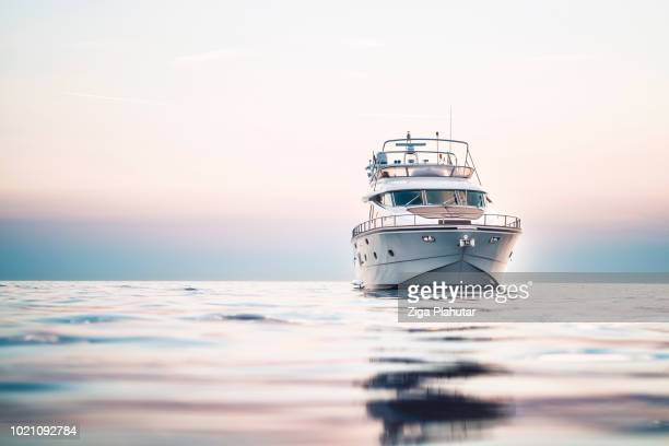 from the front - yacht stock pictures, royalty-free photos & images