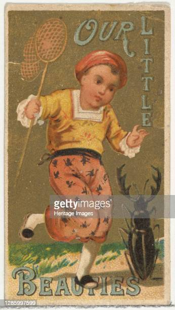 From the Girls and Children series promoting Our Little Beauties Cigarettes for Allen & Ginter brand tobacco products, 1887. Artist Allen & Ginter.