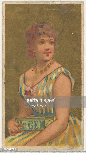 From the Girls and Children series promoting Richmond Gem Cigarettes for Allen & Ginter brand tobacco products, circa 1886. Artist Allen & Ginter.