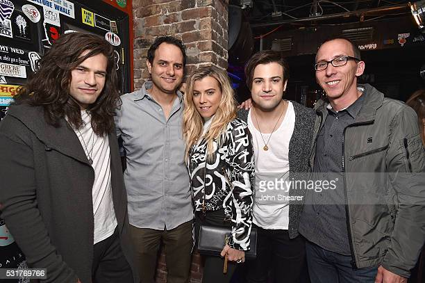 from the group The Band Perry Reid Perry CEO of Interscope Geffen AM Records John Janick from the group The Band Perry Kimberly Perry from the group...