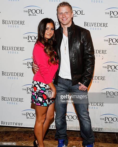 From the hit ABCTV show 'The Bachelor' the Winner of season 17 Sean Lowe hosted a party at 'The Pool After Dark' at Harrah's Atlantic City Catherine...
