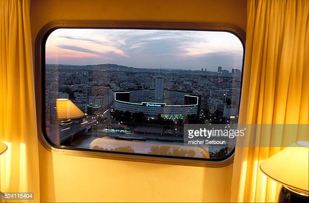 From the Hotel Nikko guests enjoy a sweeping view of the Paris skyline taking in the 16th district the Seine and the Maison de la Radio