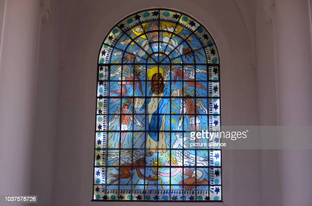 From the late pop artist James Rizzi designed stained glass windows can be seen in the Essen Kreuzeskirche Germany 24 August 2016 On 28 August the...