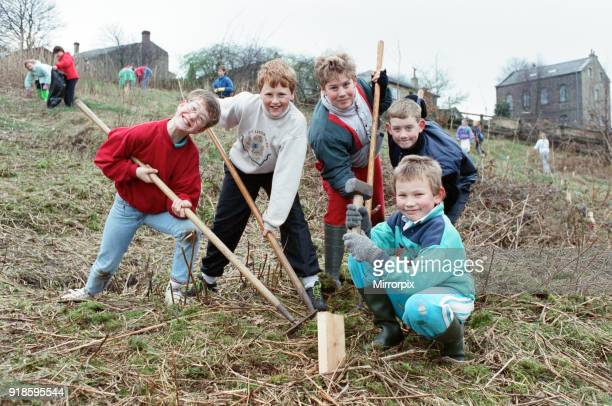 Steven Baines Craig Walton Daniel Bray Andrew Wilson and William Beaumont The children from Netherthong Junior and Infants School are pulling out the...