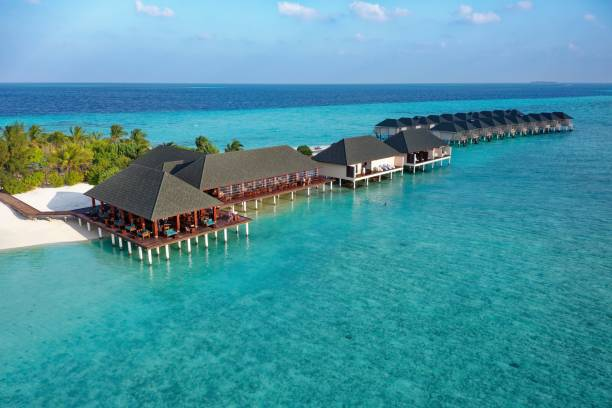 From the left Bar, Restaurant, Spa, Water Bungalows, Summer Island, North Male Atoll, Maldives