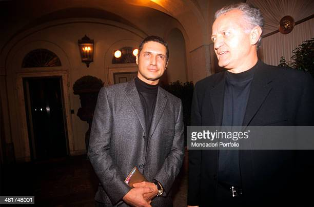 From the left, the fashion designer Antonio D'Amico and Santo Versace, respectively the former partner and the elder brother of the deceased Gianni...