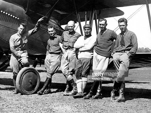 From The Left To The Right The Guides Henry Ogden And Leigh Wade The Lieutenants Erick Nelson John Harding P Leslie Arnold And Lowell H Smith Who...