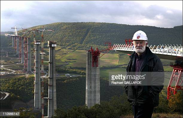 From The Northern Part Of The Construction Site Of The Millau Viaduct Chief Project Engineer JeanPierre Martin From Eiffage Group Shows The Progress...