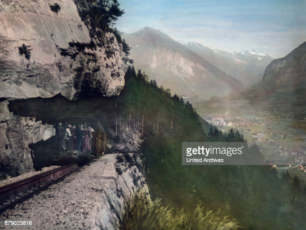 From the pass it goes on cliffs and down through the forest to Haslital Multiple hang the rocks across the web as you can see in this view which also...