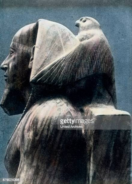 From the Pharaoh Khafre, who built around 2800 BC. The second of the Pyramids, located in the Cairo Museum, a wonderful sculpture, one of the...