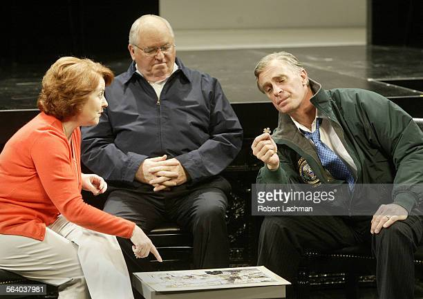 From the play Stuff Happens at the Mark Taper Forum Jane Carr as Laura Bush Dakin Matthews as Dick Cheney Keith Carradine as President George Bush