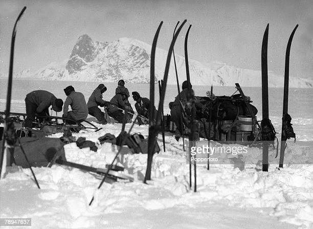 From the Ponting Collection Captain Robert Falcon Scott Photographer Scotts Antarctic Expedition 1910 1912 Expedition team members take a rest after...