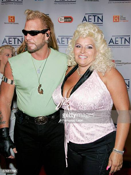 From the reality television show Dog The Bounty Hunter Beth Smith and Duane Dog Chapman arrive to AE Television Networks Upfront celebration held at...