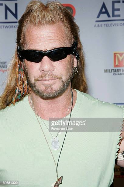 From the reality television show Dog The Bounty Hunter Duane Dog Chapman arrives to AE Television Networks Upfront celebration held at Rockefeller...