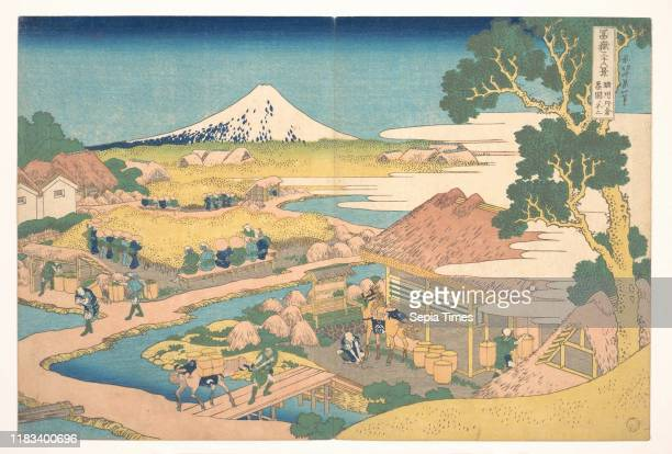 From the series Thirty-six Views of Mount Fuji , Edo period , circa 1830-32, Japan, Polychrome woodblock print; ink and color on paper, H. 9 13/16...