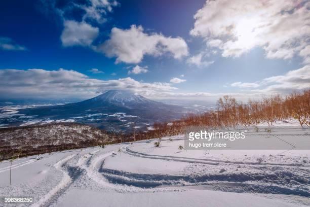 From the top of Hirafu ski resort, Japan,