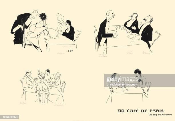 >New Years Eve in a Café in Paris Rochefort Oscar Wilde Marquis de Massa Comte HallezClaparède Duc de Morny Marquis de Dion Santos Dumont Marquis...