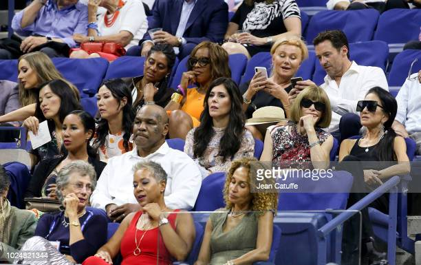 From top Gayle King, Hugh Jackman and his wife Deborra-lee Furness, below Wendy Deng Murdoch,Cheryl Scharf , Anna Wintour, Vera Wang, below Mike...