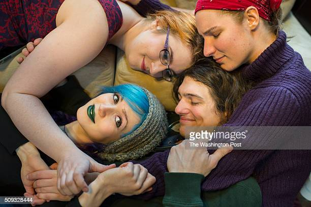 From top left clockwise Rachel Ruvinsky 22 Sam Brehm 21 Bennett Marschner 26 and Hannah Schott 22 pose for a photograph in Derwood Maryland on...