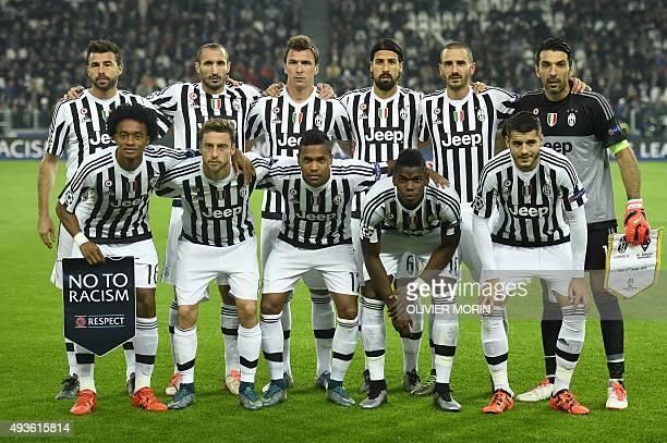 Juventus' defender from Italy Andrea Barzagli Juventus' defender from Italy Giorgio Chiellini Juventus' forward from Croatia Mario Mandzukic...