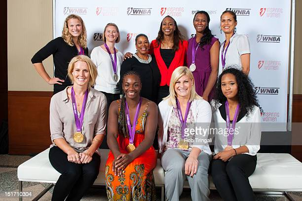 From top row left, Taylor Ritzel, Lauren Tamayo, Laurel Richie,Tamika Catchings, Danielle Scott-Arruda and Logan Tom, From Bottom Row Left, Betsey...