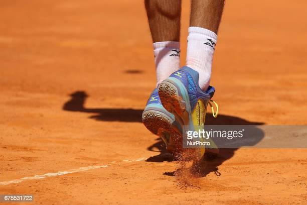 JAZIRI from TUNISIA in action during the match Gastao Elias between Malek Jaziri for Millennium Estoril Open at Clube de Tenis do Estoril on May 1...