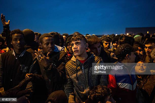 From very early in the morning hundreds of migrants stand in front of the gate of the warehouse to be registered and eventually to take the bus to a...