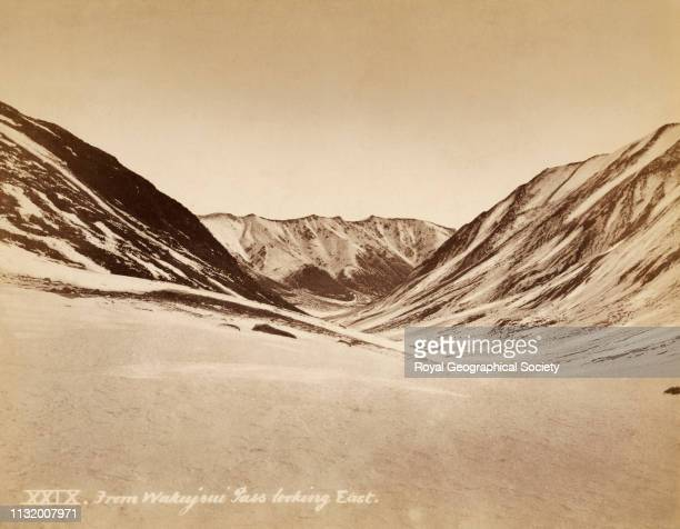 From Wakujoui Wakhjir pass looking east, Gilgit Mission of Col. W.S.A. Lockhart and Col. R.G. Woodthorpe, 1885. Photographer unknown.