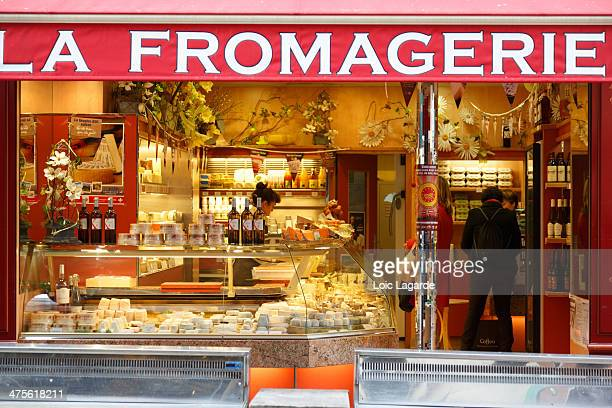 Fromagerie in a market in Paris