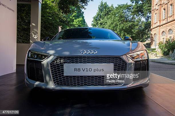 Fron view of Audi R8 Parco Valentino car show hosted 93 cars by many automobile manufacturers and car designers inside Valentino Park