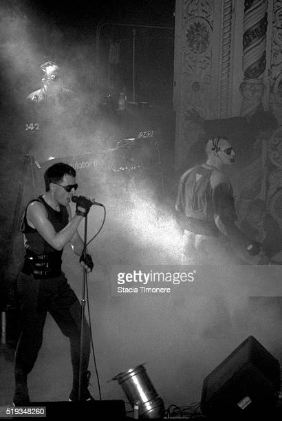 Front 242 performs onstage at Cabaret Metro in Chicago Illinois USA on May 12 1989