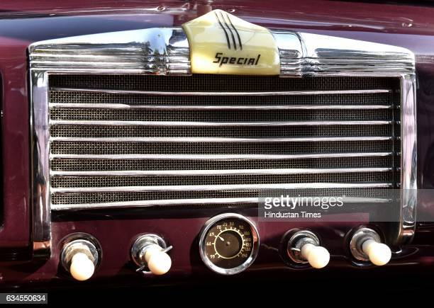 Front air conditioning penal of Buik Convertible of 1938 model with 4500 CC during the media preview for upcoming 21 Gun Salute Vintage Car rally on...