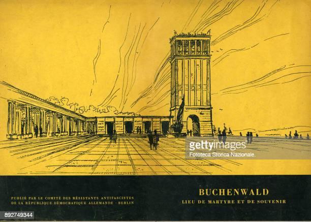 Front and back cover of the booklet 'Buchenwald lieu de Martire et de souvenir' the book explains the transformation of the concentration camp into...