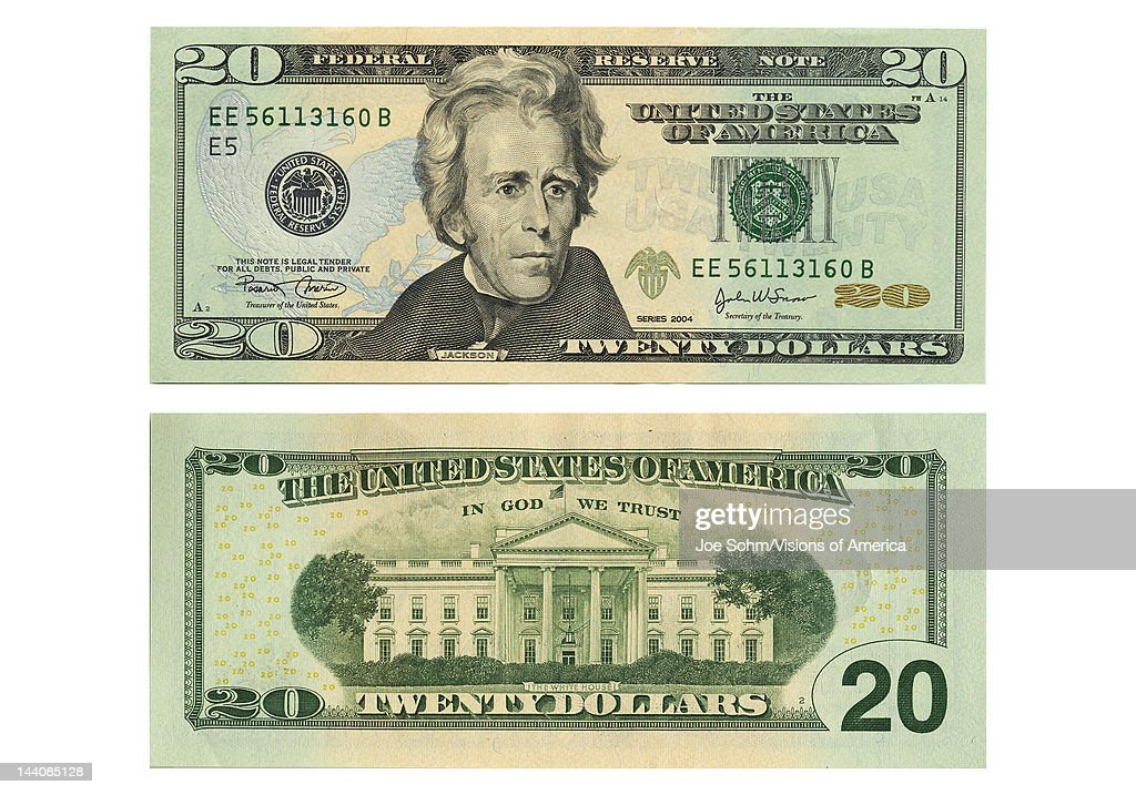 Front And Back Side Of The New Twenty Dollar Bill News P O
